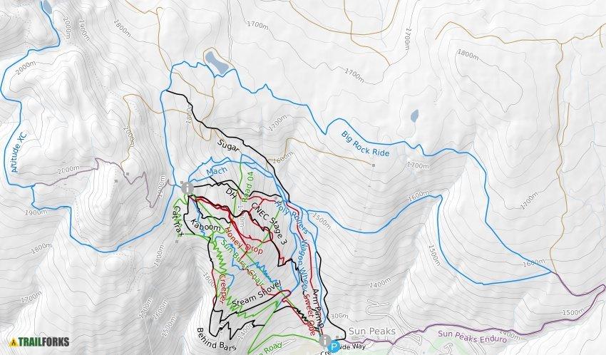 Sun Peaks Resort Mountain Bike Trails Trailforks