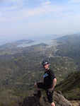 Cam summiting Mt. Tam