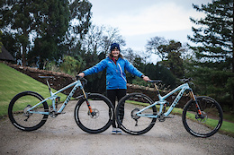 Katy Winton's Factory Trek Slash 29 and Remedy 27.5 Race Bikes