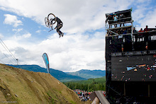 Tyler McCaul third attempt at a bike flip.