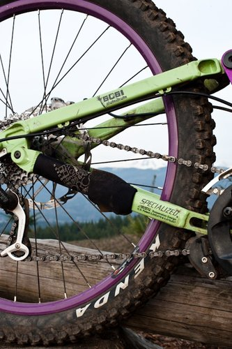 Including a chainstay wrap is mutually beneficial- you prevent chainslap and Norco hides the patent decal