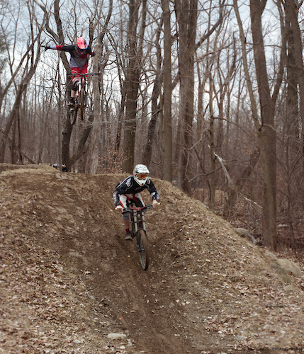 "Myself, Ben Stanziale ""filmer"" (freedjdh) , Justin Brigandi, John Hanson, PJ Post, & George Ryan set out to shoot at Mountain Creek Bike Park!"