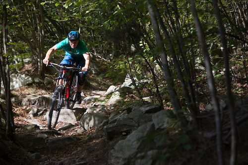 Charging through rough sections felt comfortable aboard the Enduro 29er. <i>Image by Marco Toniolo</i>