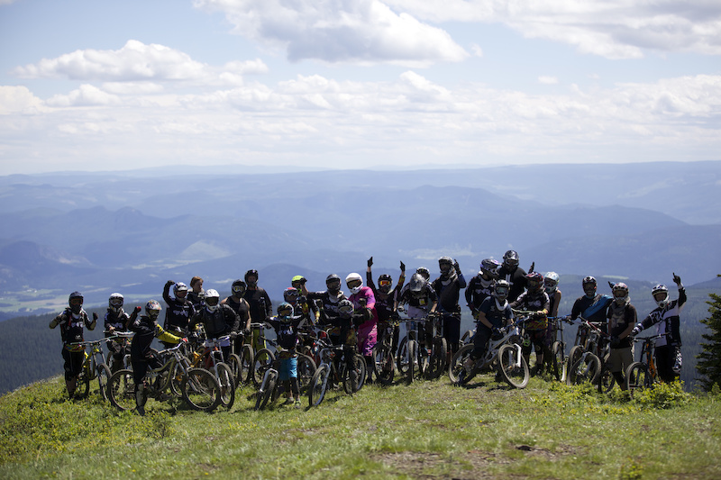 2013 Group shot of Elevate Mtn Bike Camp. Coached by Thomas Vanderham Matt Hunter Kenny Smith and Jordie Lunn. 2014 dates - June 30-July 4. Don t miss it Photo by Matt Miles.