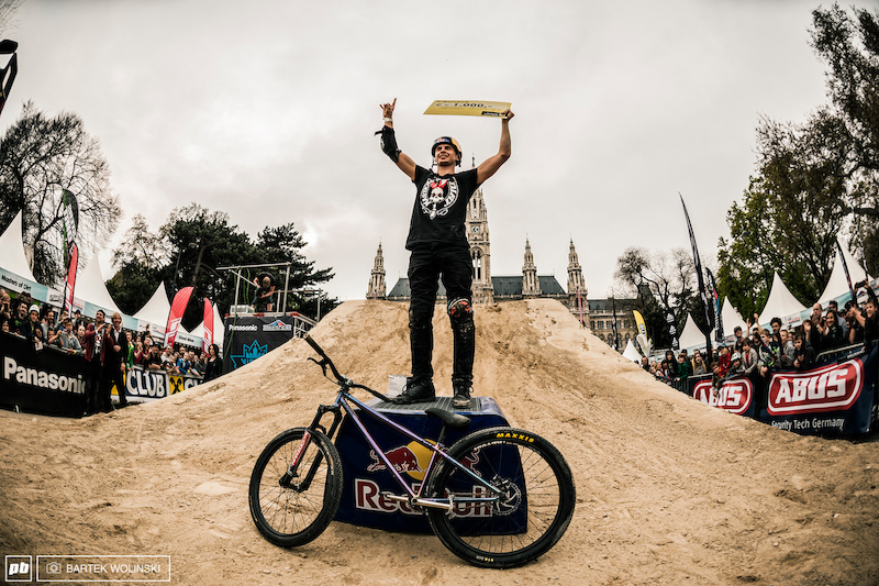 Szymon Godziek won best trick with backflip cliffhanger