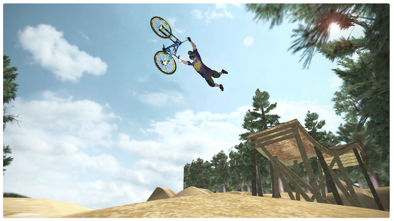 Bike Video Game Stoked Game Screen grabs