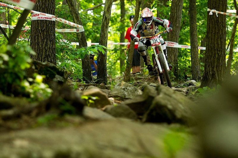 Maxima BIKE Brand Manager doing work in his prime - US Open 2010. photo Sven Martin