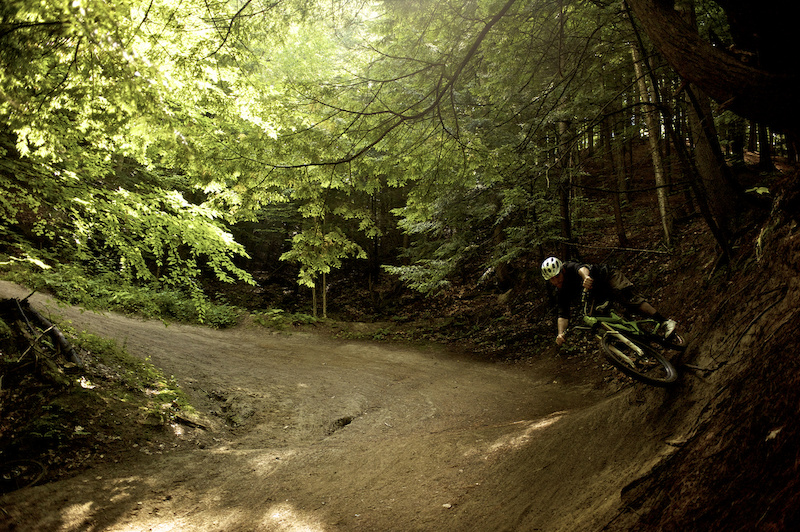 Rider David Smutok. Trail Perry Hill Trails - Rasta Man. Location Waterbury VT photo by Bear Cieri Waterbury VT 8 8 11