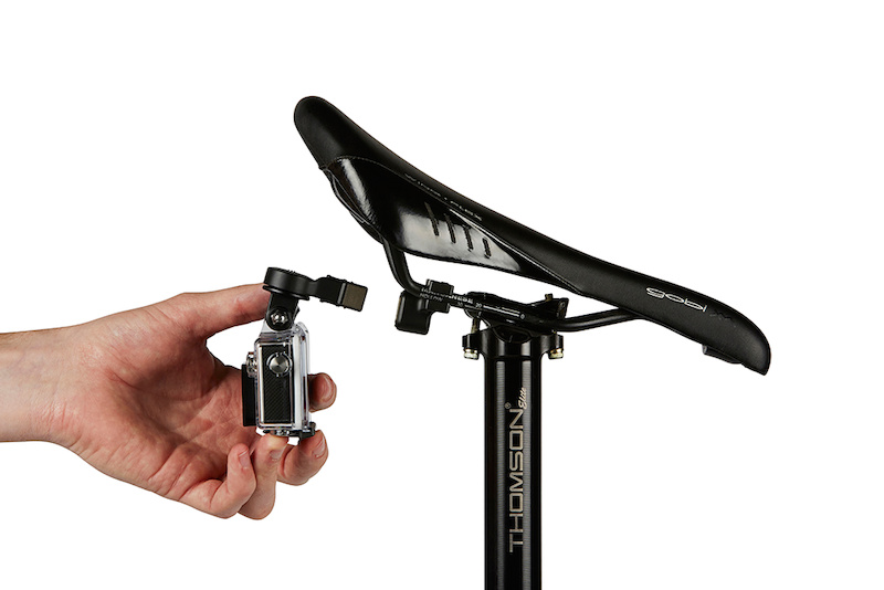 Seat rail mount and GoPro camera arm.