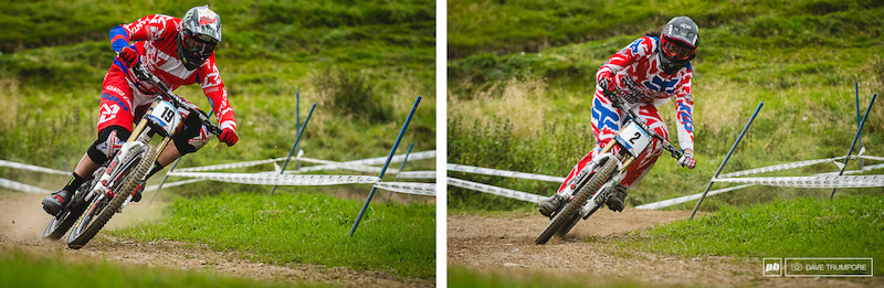 Steve Peat always corners with perfect style and it s no surprise Josh does the same.