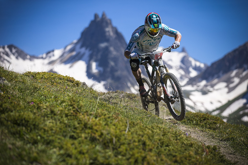 Jared in action at Valloire in France...