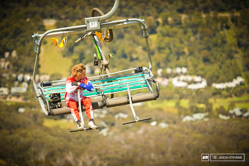 What does Troy Brosnan think about onhis lonely chair lift rides