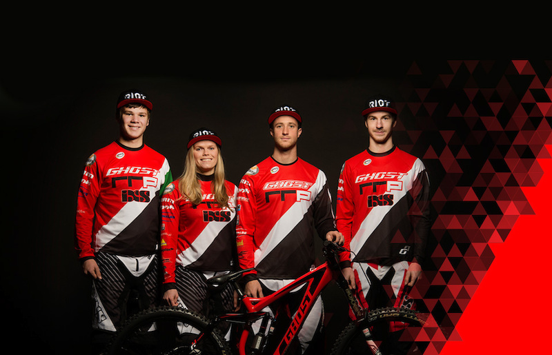 Bigger better GHOST-RRP Team - First full GHOST-RRP Team appearance in Prague. Georg Danner proudly presents new additions to the GHOST-RRP Team. In January 2015 Johannes von Klebelsberg from Italy and Jana B rtov from Czech Republic joined the Downhill Team around German rider Johannes Fischbach and Austrian David Trummer.