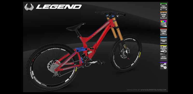 Bike 3d Configurator lineup in glorious D with