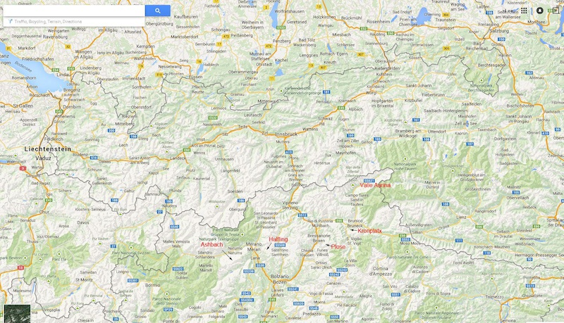 Map of Italian Alps Dolomites Amp Italian Alps