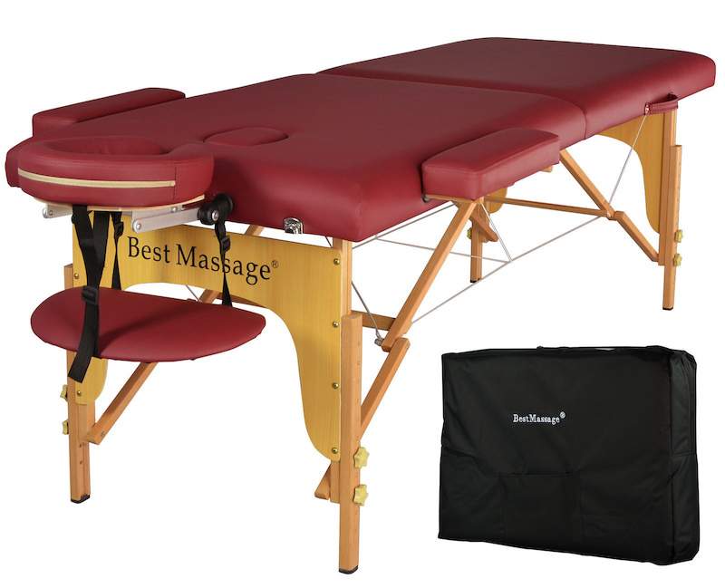 2014 burgundy pu portable massage table with carry case for sale. Black Bedroom Furniture Sets. Home Design Ideas