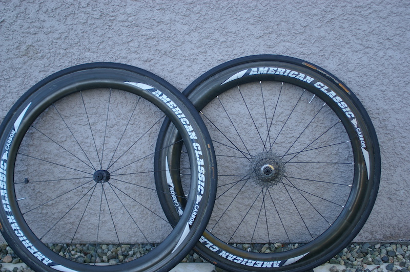 2007 american classic carbon tubular race wheels for sale