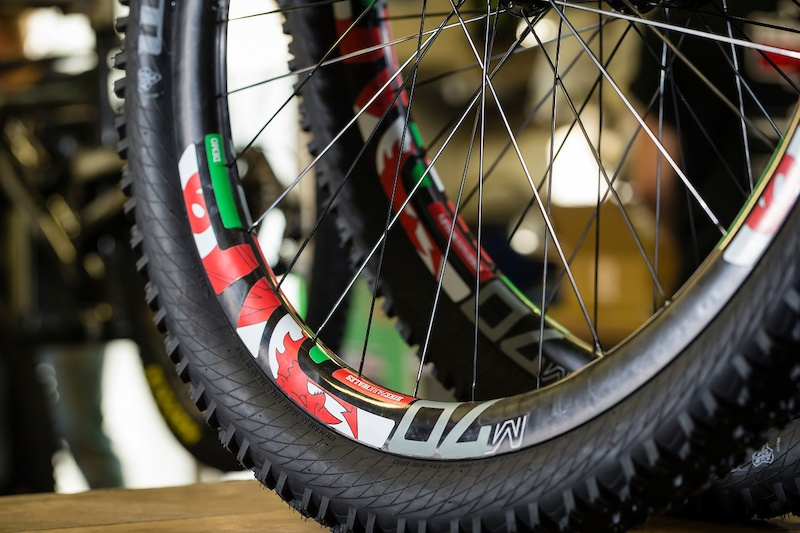 Custom Enve decals for BikePark Wales