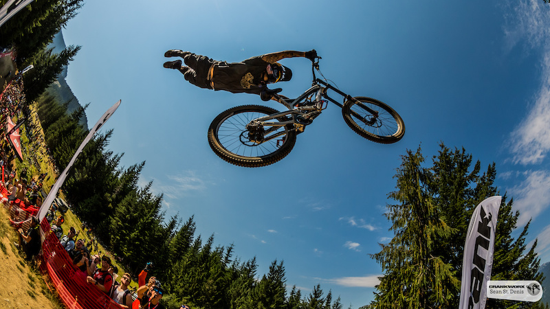 Andreu Lacondeguy at the Official Whip-Off World Championships presented by Spank at Crankworx Whistler British Columbia Canada. photo Sean St.Denis
