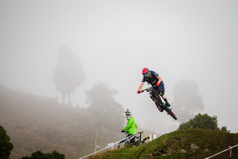 Gary Forrest during practice of the finale stage of round 1 of EWS 2015 in Rotorua NZ.