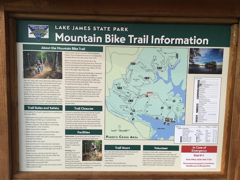 Lake James State Park Mountain Bike Trails Trailforks