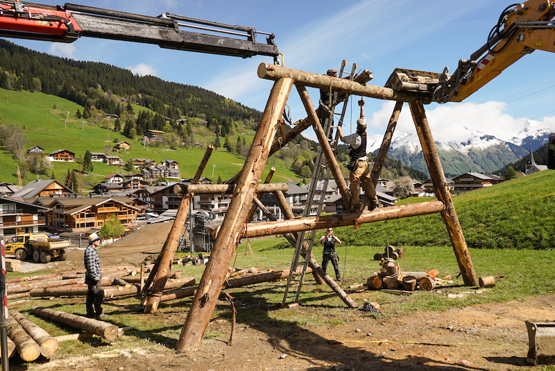 Crankworx Les Gets Slopestyle course build 2016