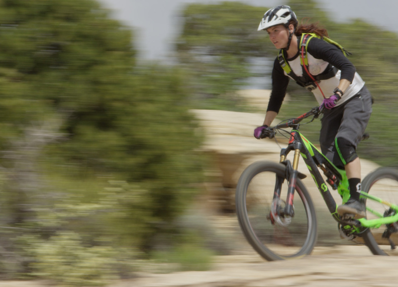 Amanda Cordell at the first stop of the SCOTT Enduro Cup in Moab UT.
