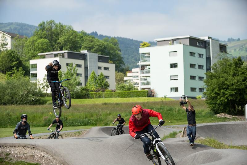 Velosolutions Asphalt Pumptrack in Kriens Switzerland.