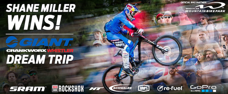 Giant Crankworx Whistler Dream Trip Contest – Winner