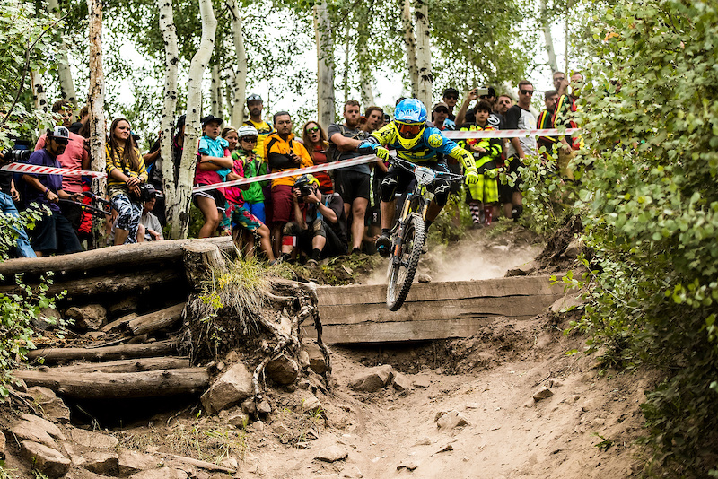 Martin Maes riding the mallet E LS at the 2016 EWS Snowmass Aspen Colorado USA.
