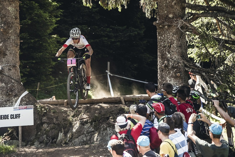 Annika Langvad performs at the UCI XCO World Tour in Lenzerheide on July 10th 2016 Bartek Wolinski Red Bull Content Pool