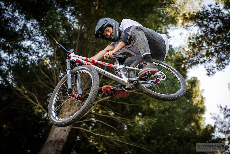 Thomas Lemoine during Crankworx Rotorua Slopestyle. Photo Chester Boyes
