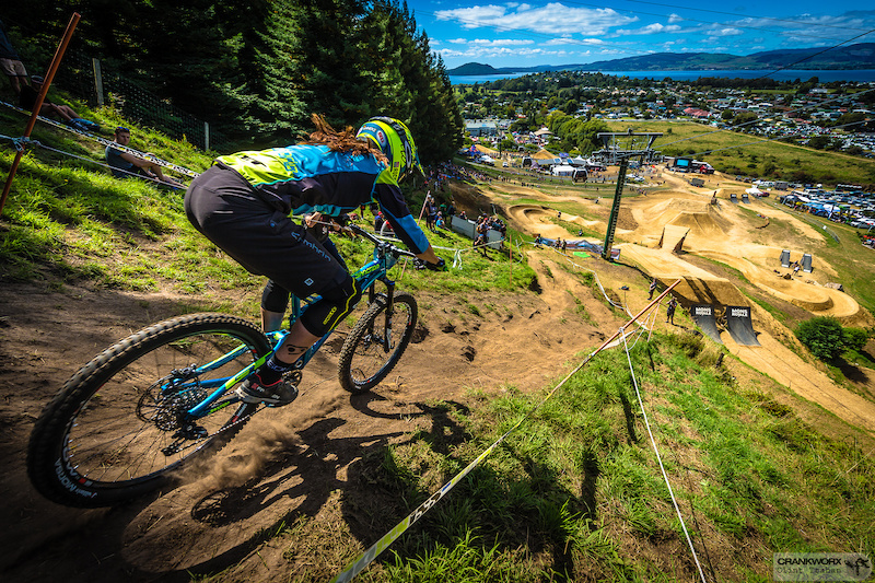 Anneke Beerten at Crankworx in Rotorua New Zealand. Photo by Clint Trahan Crankworx