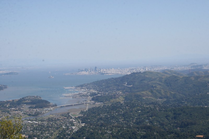 View from above - Overlooking San Fransisco