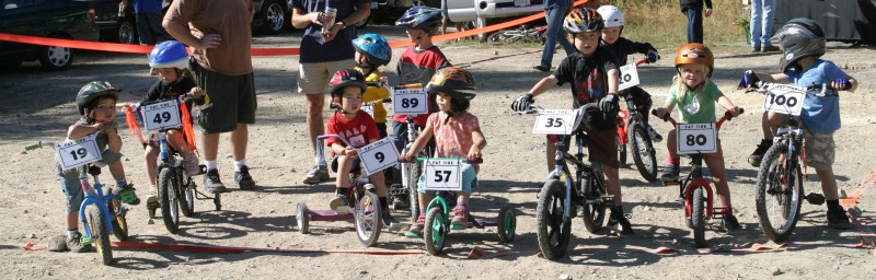 Events such as the kids race at the Kootenay Fat Tire festival in Nelson are a great opportunity to get everyone in on the fun.
