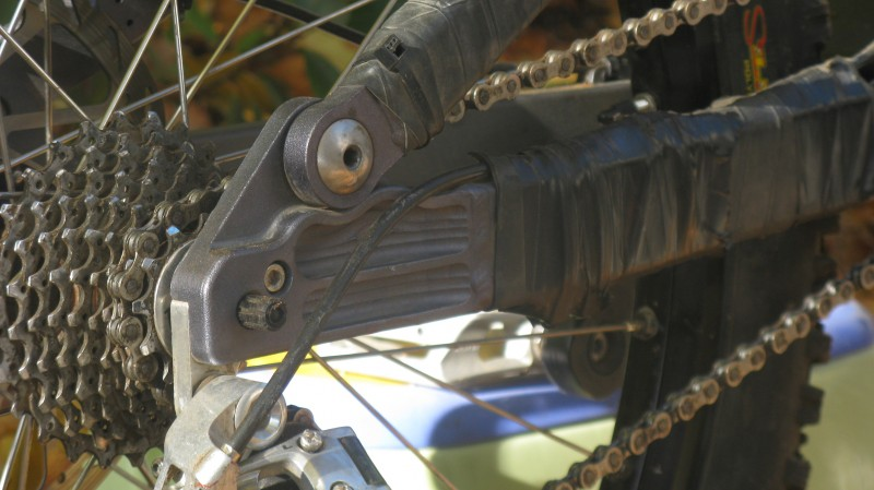 The Scythe - like all Banshee bikes - features some nice machining as seen on the chain stays here.
