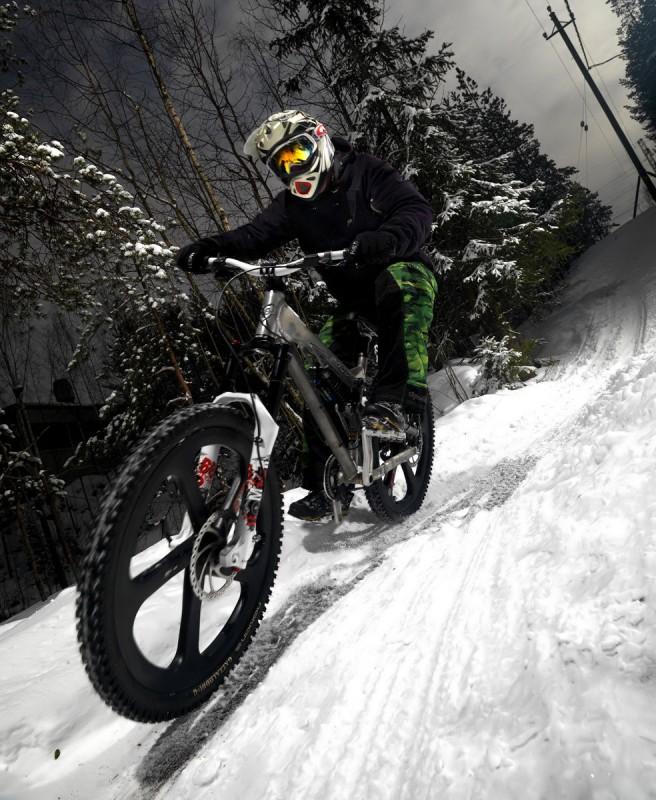 mountainbike snow winter extreme - photo #42