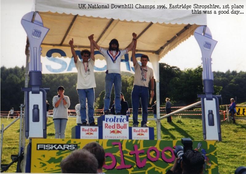 Graham winnin the National Downhill Championship in 1996