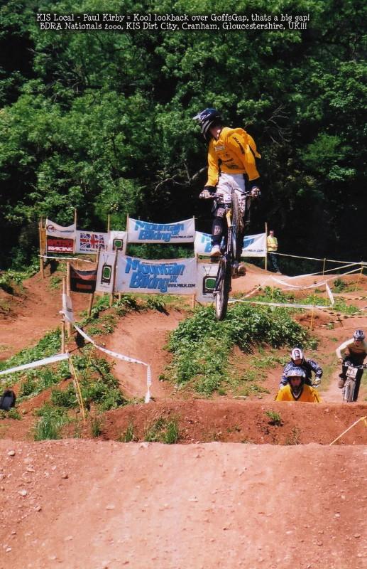 Team Rider Paul Kirby (PK) over Goffy's Gap at KIS Dirt City in Cranham