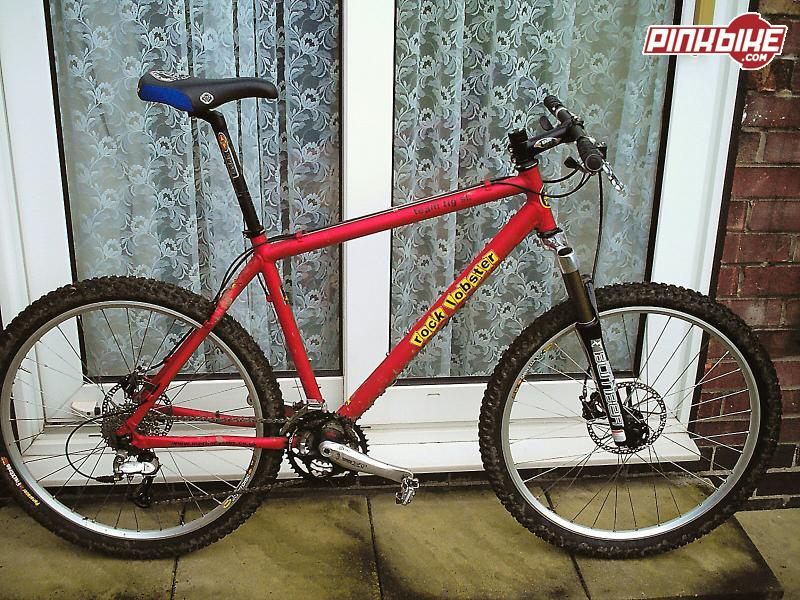 "Old Red. 19"" Easton 7005 Alluminium frame, Full XT inc SPD's, Hope Mono Minis, Easton bars stem and seatpost, Marzocchi MX Comp forks, Mavic X717 rims, Panaracer Fire XC tyres, 25 lbs."