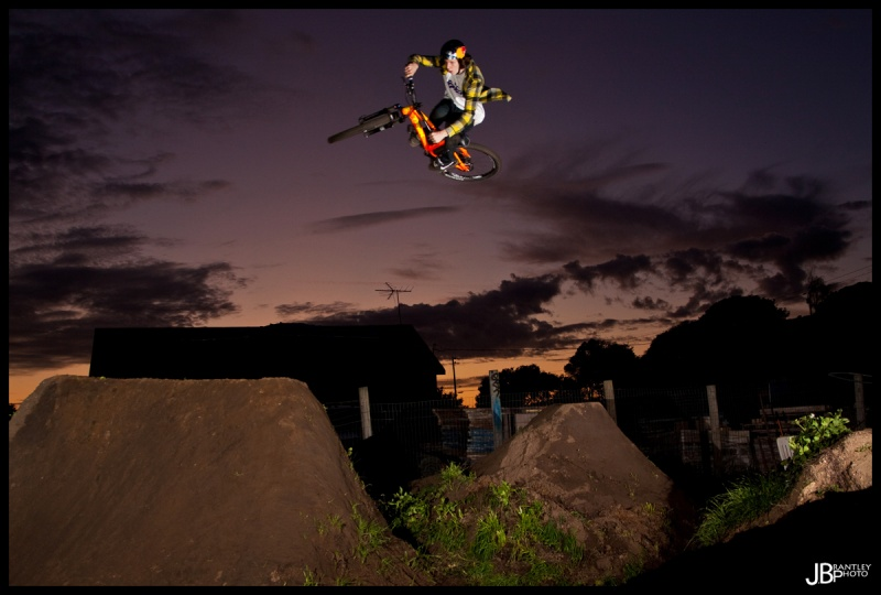 Semenuk riding into the night!