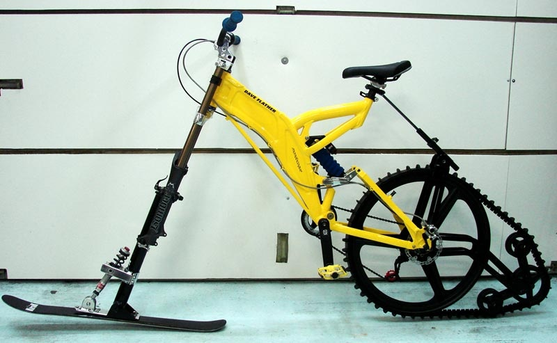 Как сделать велоснегоход в домашних условиях