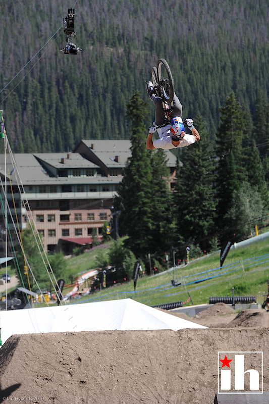 Brandon Semenuk did his second ever front flip over the trick jump