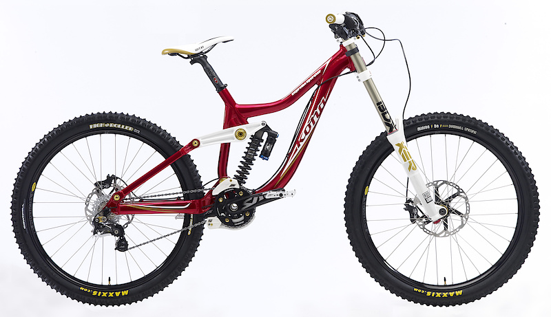 Kona's DH bike for 2011 uses a revised frame that features their reliable suspension design combined with drastically shaped frame tubes. A tapered headtube, loads of stand over clearance, and new clevis type pivots are just some of the additions.