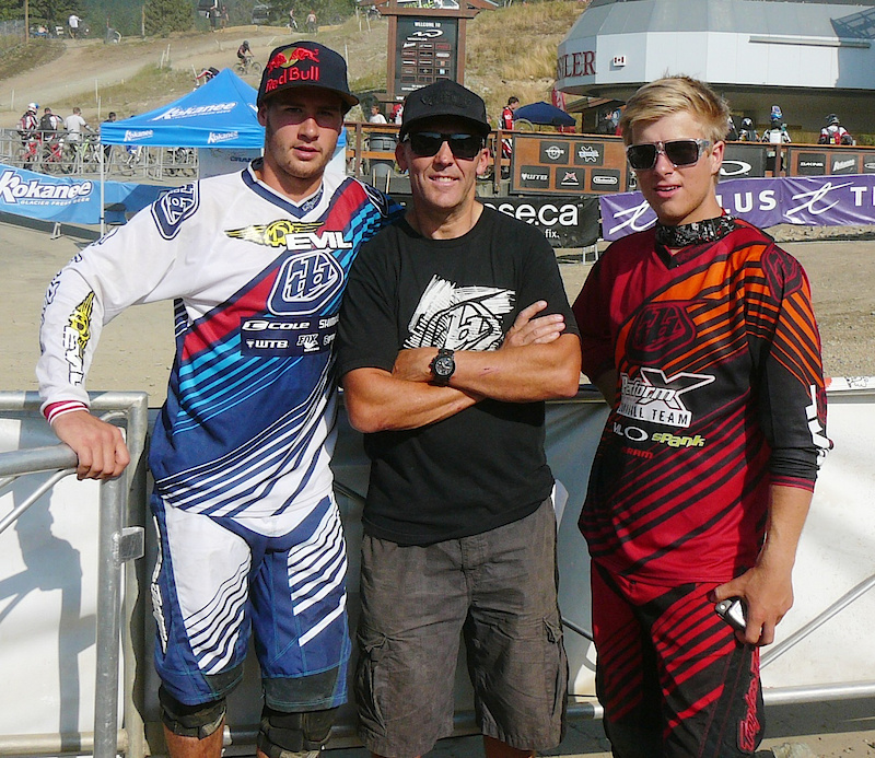 Todd with Steve Smith and Remi Gauvin at Crankworx 2010.