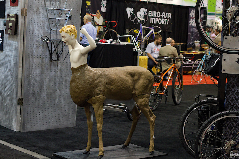 I'm not sure what relevance this teen aged centaur had to the rest of the Surly booth, but I'm sure he played an important role in one way or another. I did take a photo after all, right?