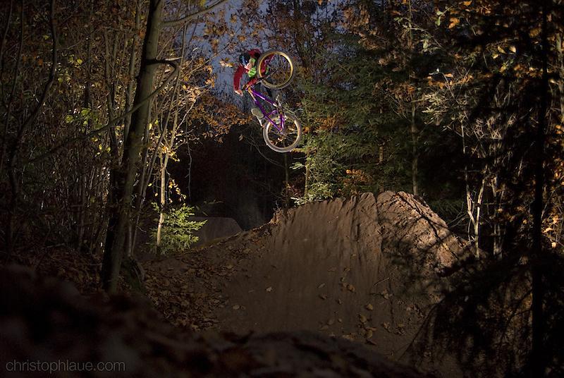 Urs Reinosch riding some trails