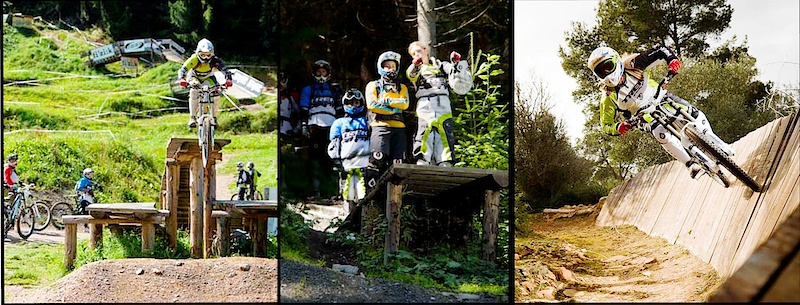 Solveig riding and coaching at the Trek Gravity Girls Freeride Camp at Saalbach, Austria