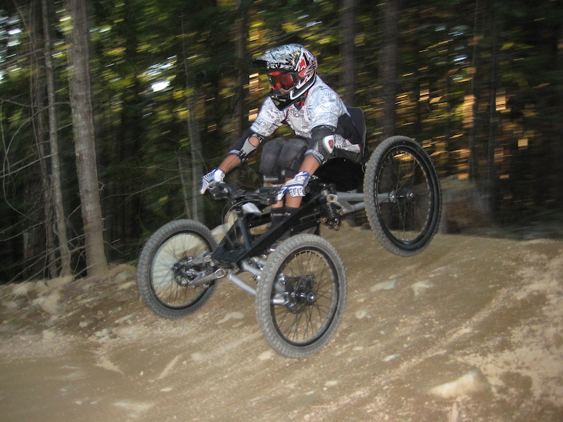 First day in Whistler in 2009 - back on dirt, 4 wheels this time.