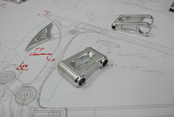 Linkage - will be connected with full titanium axles on sealed bearings